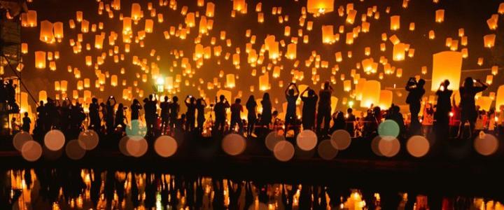 泰国清迈水灯节/万人天灯节