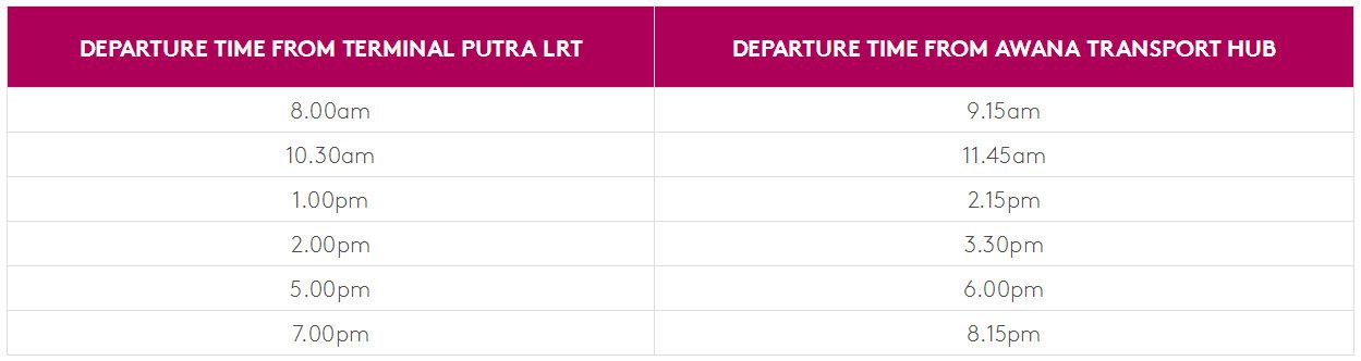 从吉隆坡去云顶,如何从吉隆坡机场/市区去云顶,From Klia/Klia2 to Genting highlands