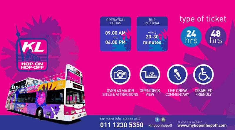 吉隆坡随上随下观光巴士,吉隆坡随上随下观光巴士Hop-on Hop-off Bus,Hop-on Hop-off Bus