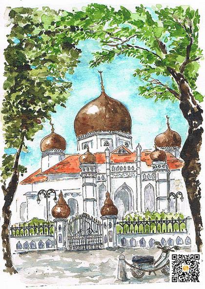 甲必丹吉宁清真寺,甲必丹吉宁清真寺,Kapitan Keling Mosque