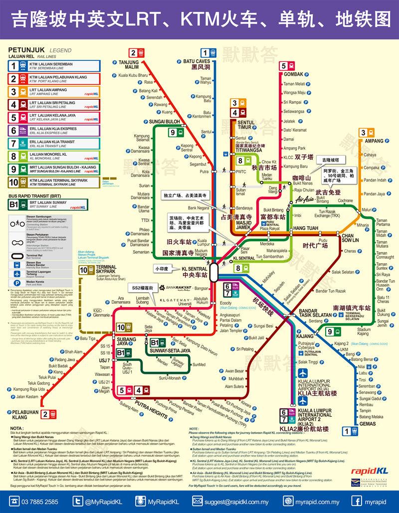 吉隆坡轻轨LRT,吉隆坡轻轨LRT(3-5号线),Kuala Lumpur Light Rail Transit